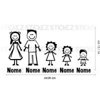Adesivo Famiglia 2 sorelle e 1 fratello