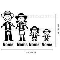 Adesivo Famiglia a bordo Western
